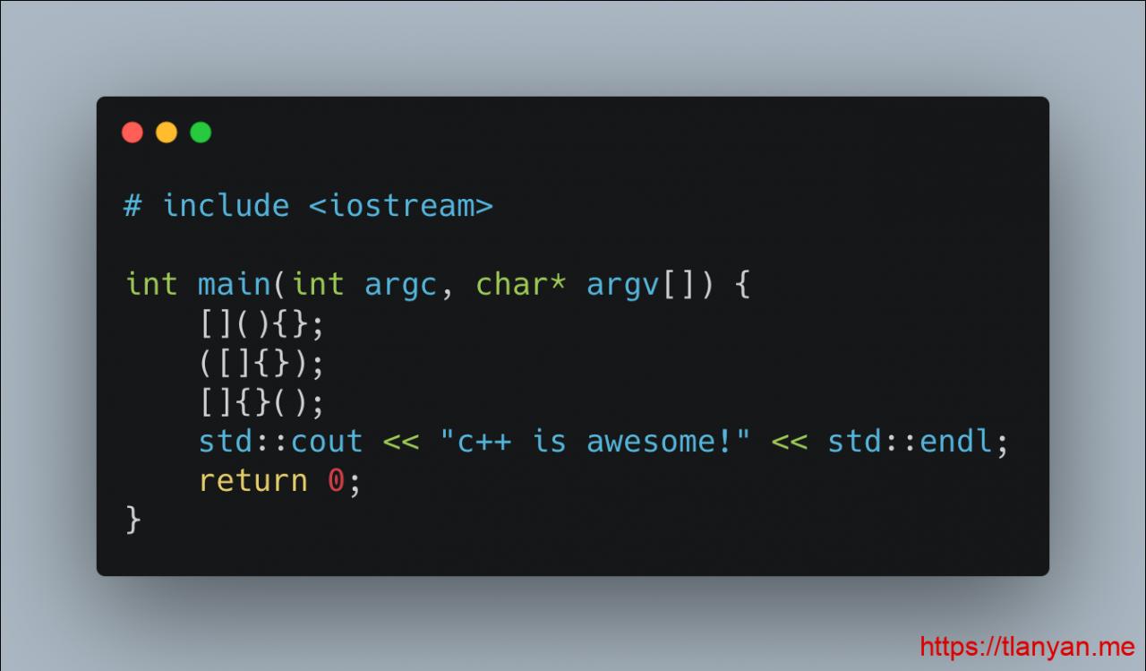神奇的C++11代码