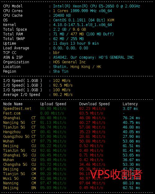企鹅小屋网络全新升级后的香港四期66/0.5G套餐脚本测试