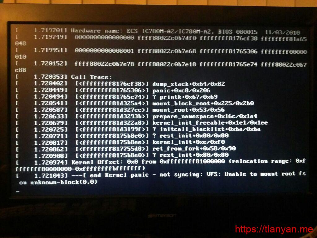 Kernel panic - not syncing- VFS- Unable to mount root fs on unknown-block(0,0)
