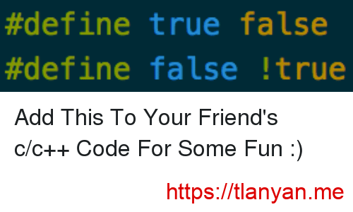 define true false