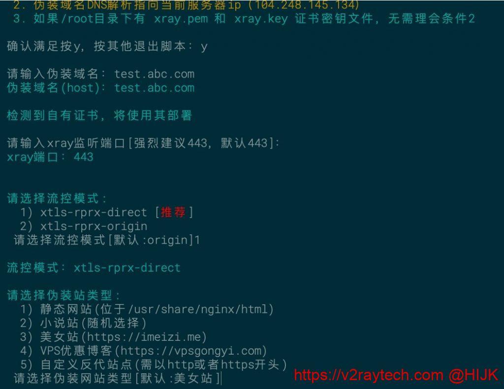 xray一键脚本输入